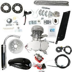 100cc 2-Stroke Bicycle Motor Kit Bike Motorized Petrol Gas Engine Full Set