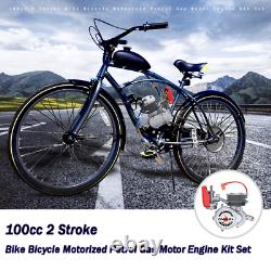 100cc 2-Stroke Engine Motor Kit for Motorized Bicycle Bike Gas Powered Sliver