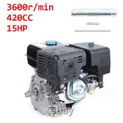 15HP 420CC OHV Horizontal Shaft Gas Engine Manual Recoil Start 3600RPM 4-Stroke