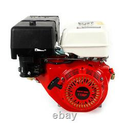 15HP 4Stroke OHV Horizontal Gas Engine Go Kart Motor Recoil with Silencer 420CC US