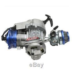 2 Stroke 49cc Engine Motor Kit Pocket Mini Dirt Bike Gas Quad