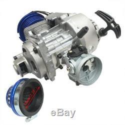 2 Stroke 49cc Engine Motor Kit Pocket Mini Dirt Bike Gas