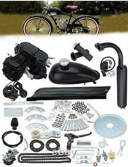 2 Stroke 50cc Bicycle Petrol Gas Motorized Engine Bike Motor Kit Set Black