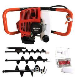 2 Stroke 52CC Gas Powered Post Hole Digging With 4+6+8 Earth Auger Engine