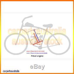 2-Stroke 80CC GAS Motor Bicycle Silver Engine Kit Motorized Bike