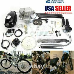2 Stroke 80cc Bikecycle Engine Motor Petrol Gas Kit Motorized Bicycle Chrome NEW