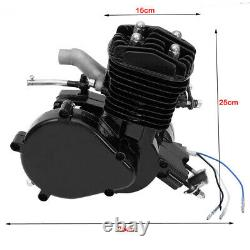 2 Stroke 80cc Gas Bike Engine Motor Kit DIY Motorized Bicycle Chrome pipe USA