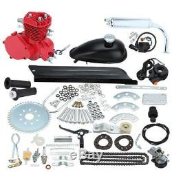 2-Stroke 80cc Motor Gas Engine Kit Red For Motorized Bicycle Cycle Bike Engine