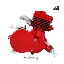 2 Stroke 80cc Red Motorized Bike Bicycle Cycle Petrol Gas Engine Motor Kit