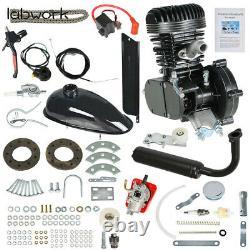 2-Stroke Black 100cc Bicycle Motor Kit Bike Motorized Petrol Gas Engine Set
