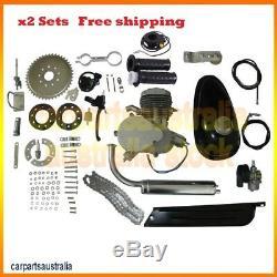 2 set of 80cc 2 Stroke GAS Engine Motor Kit for Motorized Bicycle Bike
