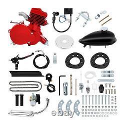 2-stroke 80CC Petrol Gas Engine Motor Kit For Motorized Bicycle Bike Bicycle Red