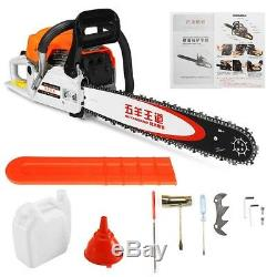 20 4000W Bar Gas Chainsaw Powered Chain Saw 62cc 2-stroke Engine Aluminum NEW