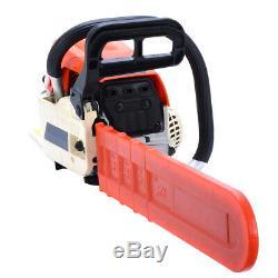 20 Bar Gas Chainsaw Chain Saw 52cc 2-Stroke Engine Aluminum Crankcase Gasoline