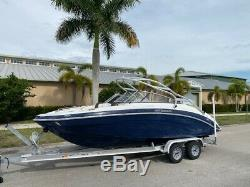 2013 Yamaha 242 Limited S Jet Boat Slight Project Repairable Twin Engine 4Stroke