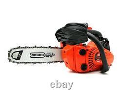 25.4CC Gasoline Chain Saw 2-Stroke Gas Engine Top Handle Mini Chainsaw 12'' Bar