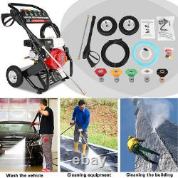 3000PSI 7HP 4-Stroke Gas Cold Water Pressure Washer Petrol Engine With Spray Gun