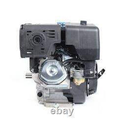 4-Stroke 15HP 420cc OHV Horizontal Shaft Gas Engine Manual Recoil Start 3600RPM
