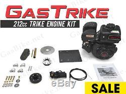 4 Stroke 212cc Trike Engine Kit Gas Motorized Bicycle