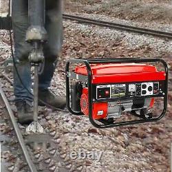 4000W 4 Stroke 120V 212CC Portable Emergency Gas Generator Engine Recoil Start