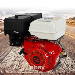 420CC 15HP 4-Stroke Horizontal Gas Petrol Air Cooling Engine Recoil Pull Start