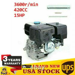 420CC 4 Stroke 15HP Gas Motor Engine OHV Gasoline Motor Forced Air Cooling NEW