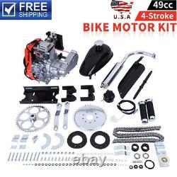 49CC 4-Stroke GAS PETROL MOTORIZED BIKE BICYCLE ENGINE MOTOR KIT Scooter