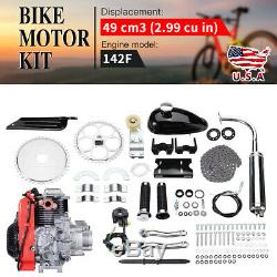 49CC 4-Stroke Gas Petrol Motorized Bicycle Bike Engine Motor Kit Scooter Tools