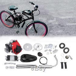 49cc 4 Stroke Cycle Motor Kit Motorized Bike Petrol Gas Bicycle Engine Black&Red