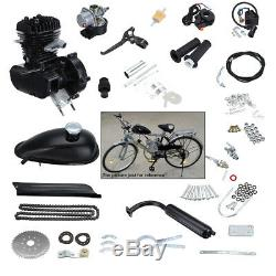 49cc 50cc DIY 2-Stroke Motor Kits Bike Motorized Bicycle Black Gas Engine