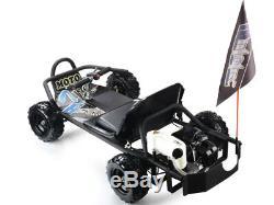 49cc Kids Go Kart Gas Powered Sand Man Knobby Tire 2 Stroke Engine Disk Brake