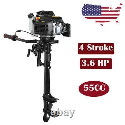 4Stroke 3.6HP Outboard Motor Fishing Boat Gas Engine Air-Cooled System USA