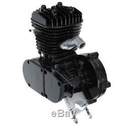 50cc 2 Stroke Motor Engine Kit Gas for Motorized Bicycle Bike Black Upgraded