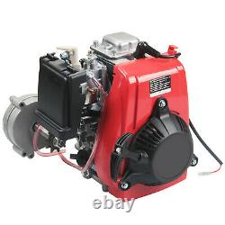 50cc 49cc 4-Stroke GAS MOTORIZED CYCLE BICYCLE Bike Engine MOTOR KIT Red PER
