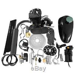 50cc Bike 2 Stroke Gas Engine Motor Kit DIY Motorized Bicycle Replacement Black