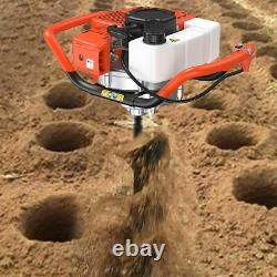 52CC 2-stroke Earth Auger 2.2HP Gas Powered Post Hole Digger Machine Engine US