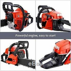 58CC Chainsaw, 20\ Gas Chainsaw Two-Stroke Gasoline Engine Chainsaw, Petrol Cha