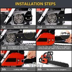 58CC Gas Engine 20 Inch Guide Board Chainsaw 2 Stroke Gasoline Powered Handheld