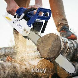58cc Gas Chainsaw 20 Bar Gasoline Powered Chain Saw Engine Cutting 2 Stroke US