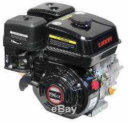 6.5HP 196CC Loncin 4 stroke Gas Small Go Kart Engine Horizontal 20mm Shaft Motor