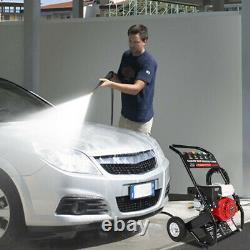 7HP 215cc 4-Stroke Gas Petrol Engine Cold Water Pressure Washer With Spray Gu-n