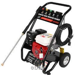 7HP 215cc 4-Stroke Gas Powered Engine Cold Water Pressure Washer Spray Gun Set