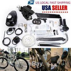 80CC 2-Stroke Petrol Gas Motor Bicycle Engine Motor Kit For Motorized Bike STOCK