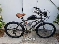 80CC Motorized 7 Speed 26 Beach Cruiser, 2 Stroke Gas Engine