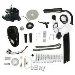80cc 2-Stroke Bicycle Bike Cycle Motorized Gas Engine Motor Complete Kit Black
