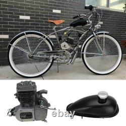 80cc 2-Stroke Bike Cycling Motorized Bicycle Engine Motor Kit Muffler Petrol Gas