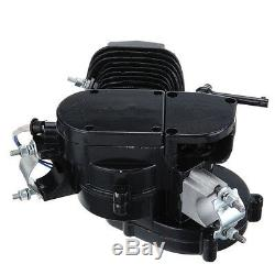 80cc 2-Stroke Bike Engine Gas Motor ONLY For Motorized Bicycle Cycle Bike Black
