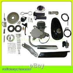 80cc 2 Stroke Bike Motor Gas Engine Kit Motorized Bicycle Engine kits Silver