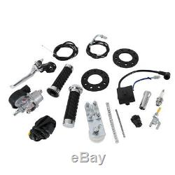 80cc 2-Stroke Cycle Bike Engine Motor Petrol Gas Kit for Motorized Bicycle Red
