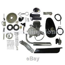 80cc 2-Stroke Cycle Bike Engine Motor Petrol Gas Kit for Motorized Silver Body